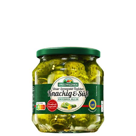 Spreewald-Töpfchen Knackig & Süß, 580 ml