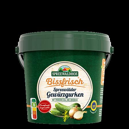 Bissfrisch – Gewürzgurken, 1,1 l Eimer