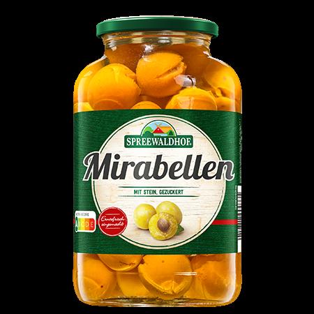 Mirabellen mit Stein