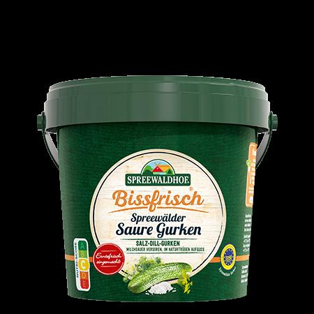Bissfrisch – Saure Gurken, 1,1 l Eimer